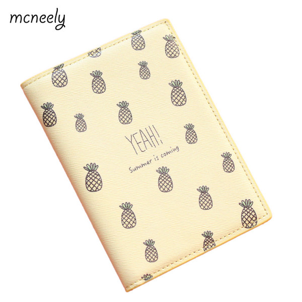 The Latest Style Pineapple Passport Cover,ID Card Holder Passport holder Case for nisex 14*10cm PU leather Top Quality