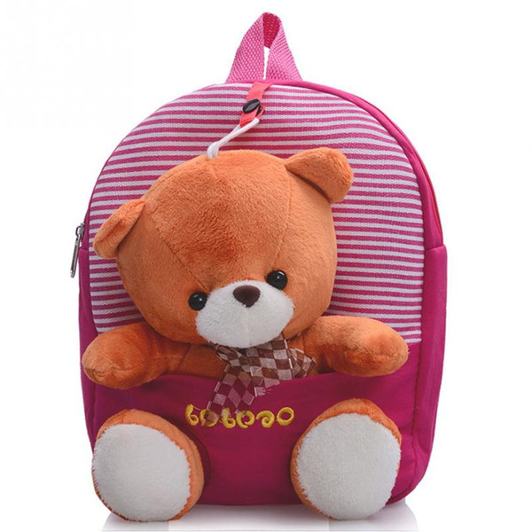 2017 Cartoon Kid School Backpack For Child School Bag For Kindergarten Girl Baby Student Boy Cute bear Backpack