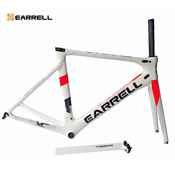 2019 carbon road bike frames bike white frame bicycles carbon road frame cycling frameset with fork Fast Free Shipping