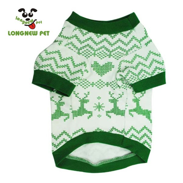 Green Beautiful Elk Pattern Comfortable Dog T Shirt Lovely Tree Home Wear Puppy Cat Dog Clothes