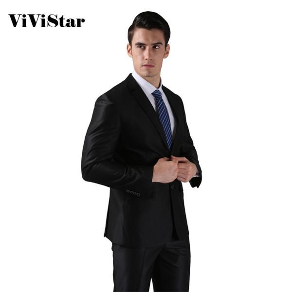 (Jackets+Pants) 2016 New Men Suits Slim Custom Fit Tuxedo Brand Fashion Bridegroon Business Dress Wedding Suits Blazer H0285 S18101903