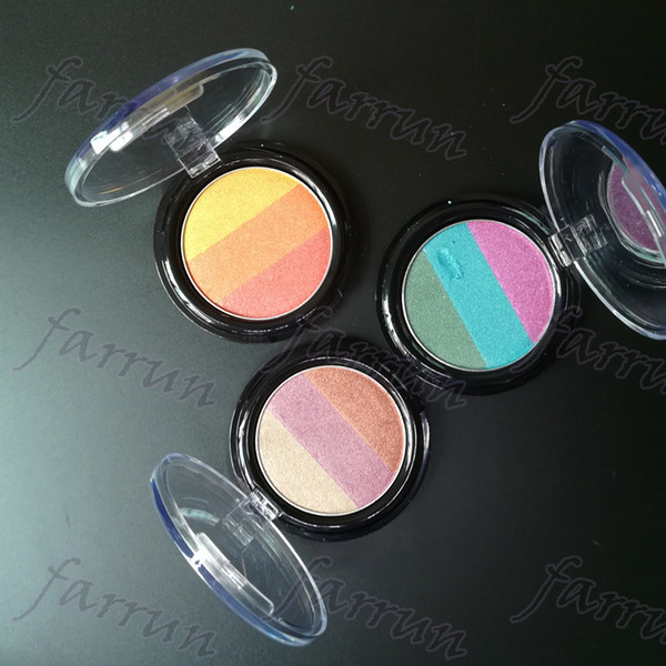 no logo 3 color mix eyeshadow palette cheap wet powder eyes mineral pigment Professional Diamond shimmer 3 Colorful makeup