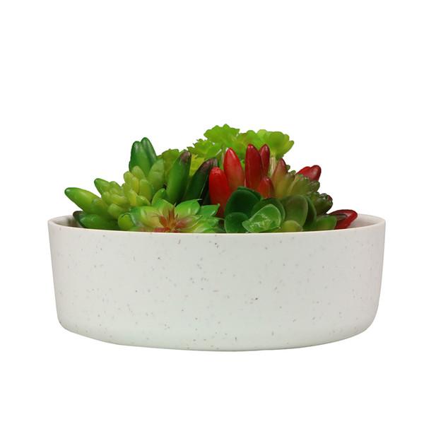 MUZHI 6.6 inch Plant Fiber Round Succulent Cactus Planter Pots, Modern Design Decorative Garden Succulent Container 10PCS MOQ