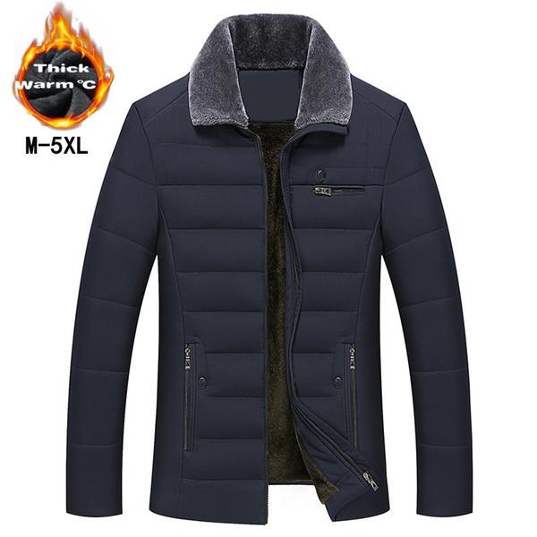 2018 Nuevo estilo Abrigo largo Ropa de marca para hombre Moda Chaquetas largas Abrigos de invierno ropa de marca para hombre Abrigo Cuello de piel Abrigo OK
