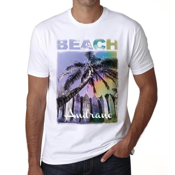 Andrano Beach Palm maglietta, maglietta Hommes Blanc, Cadeau