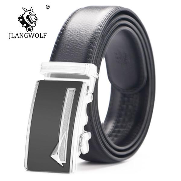 Men Ratchet Belt 100% Cowskin Genuine Leather Waist Strap Leather belt male genuine Automatic Buckle men belts D023