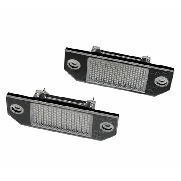 2Pcs/Set LED Number License Plate Lights Pure White Color For Ford Focus C-MAX MK2 03-08 Free Shipping
