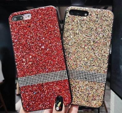 Funda para teléfono celular Estuche para teléfono de lujo con diamantes de imitación de diamantes de imitación de lujo para iPhone XR XS MAX X 8 7 Samsung Note 9