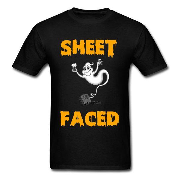 2018 Funny Halloween Ghost T-Shirt Crew Neck Cotton Fabric Men Tops T Shirt Short Sleeve Lovers Day Summer TShirt