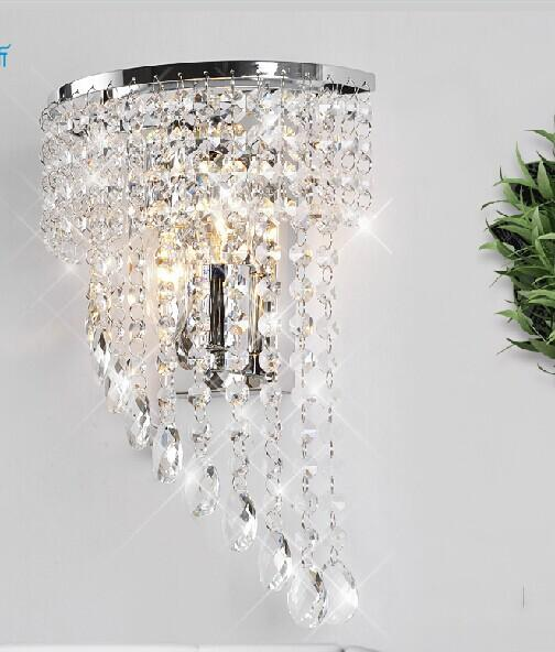 best selling crystal Wall lamp K9 chandelier light E14 led bulb lamp living room bedroom bedside Fashion Wall Sconce Hallway Hotels corridor Lamp