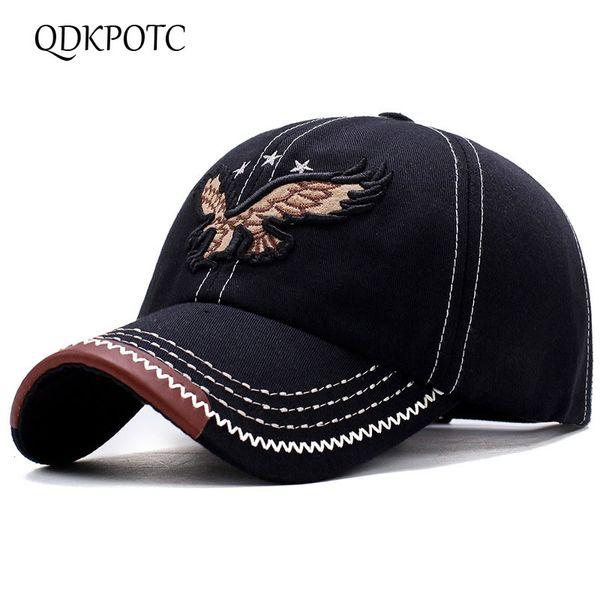 QDKPOTC 2018 джинсовая вышивка бейсболка папа шляпы Мужчины Женщины унисекс Casquette Gorras работает Snapbacks Cap солнцезащитный козырек шляпы