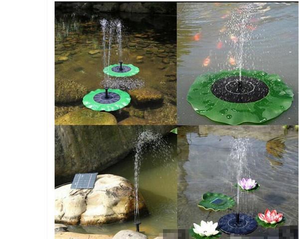 Solar Wasserpumpe schwimmende Waterpomp Panel Kit Brunnen Pool Pumpe Kit Lotus Leaf schwimmenden Teich Bewässerung Tauch Gartenpumpe