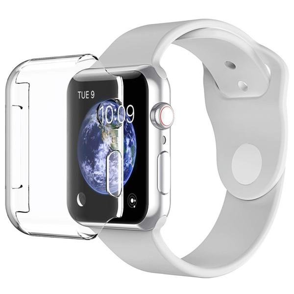 Чехол для Apple Watch Series 1 2 3 4 протектор экрана (38mm42mm40mm44mm), чехол iWatch 4 [3D Touch] мягкая крышка TPU