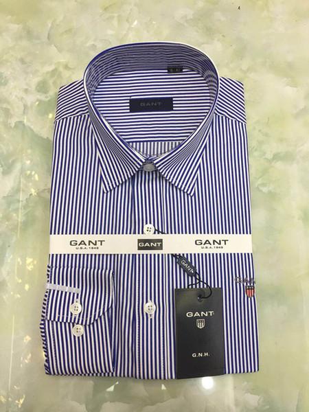 мужская футболка реальная картина с длинными рукавами полосатая высота хлопок хорошее качество мужская повседневная мода рубашка социальный бренд мужская рубашка большой размер M до 4XL