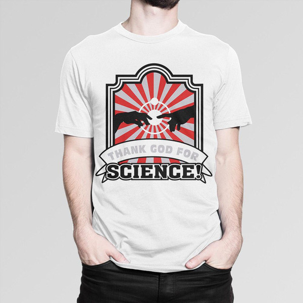 'Thank God For science!' Funny Science T-shirt, Men's Women's All Sizes 100% Cotton Brand New T-Shirts top tee