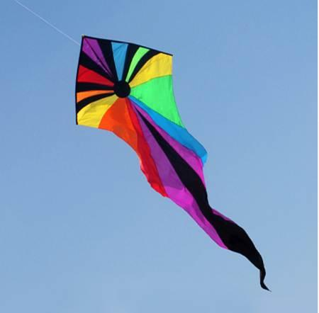 Emmakites 6.5M Kite Flying Single Line Power Triangle Kites Popular Rainbow Ghost Kite With Tail Outdoor Toys For Children Adult