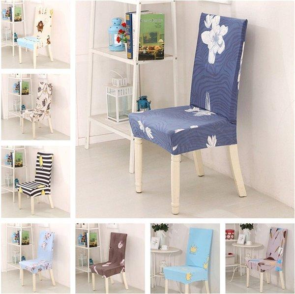 Vendita calda stampa floreale antivegetativa copertura della sedia per la casa sedia da pranzo copertura elastica coprisedili T3I0121