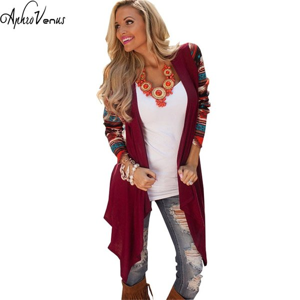 New Femme 2017 Spring Long Sleeve Knitted Sweater Cardigan Casual Air Conditioning Outwear Long Poncho Cardigans Plus Size
