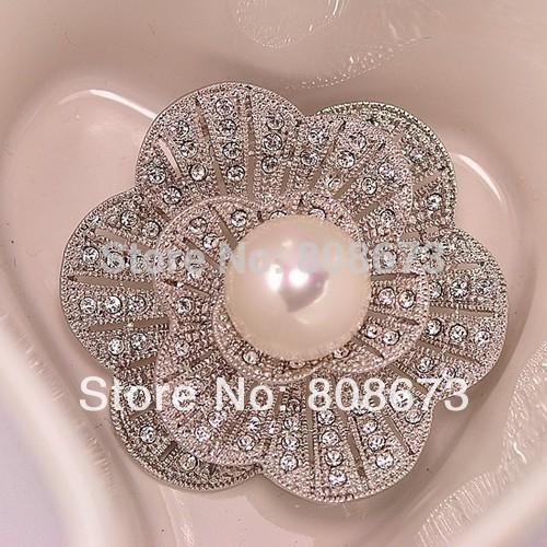 1 Stück Einzelhandel !! Hot Selae Hohe Qualität Vintage Sparkle Kristall Und Faux Perlen Hochzeit Bouquet Blume Elegante Pins Brosche