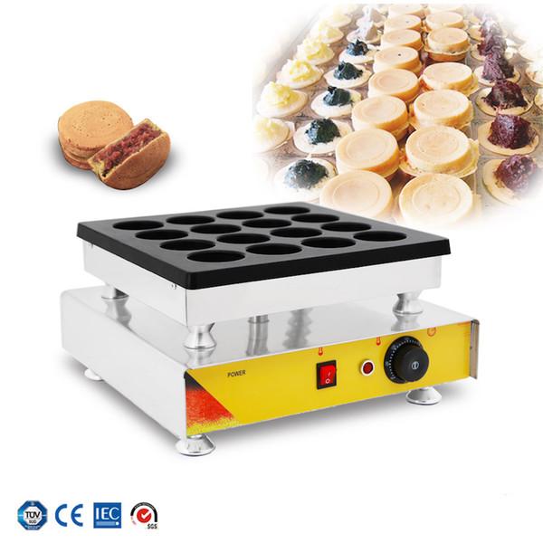 Taiwan new electric red bean cake machine electric wheel cake machine 16 holes egg hamburger commercial eggburger maker
