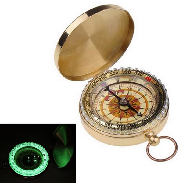 Camping Wandern Portable Messing Pocket Golden Kompass Navigation für Outdoor-Aktivitäten