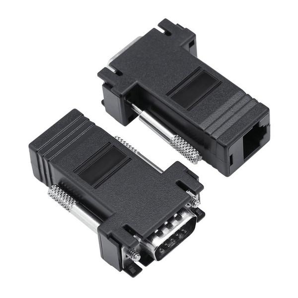 Confezioni da VGA a RJ45 Extender Adapter CAT5E CAT6 Cavo Ethernet Connettore da maschio a femmina Converter 2 colori Opzionale 7