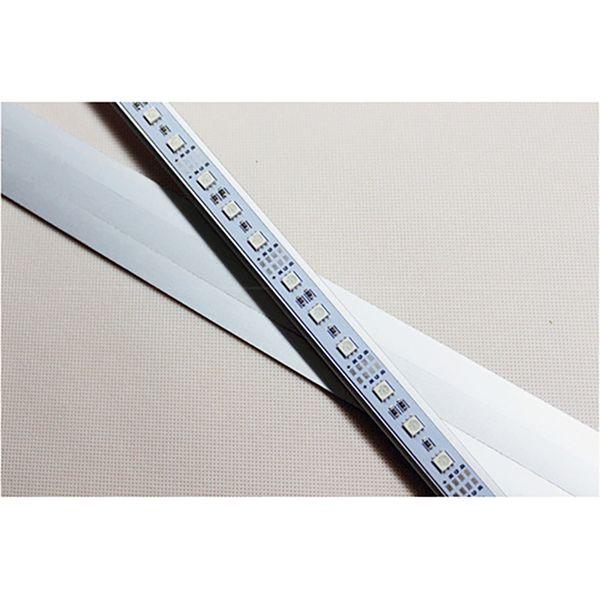 100 unids SMD 5050 RGB rígido rígido DC 12 V 100 cm no impermeable de aluminio U / V cáscara LED barra de luz para iluminación de publicidad