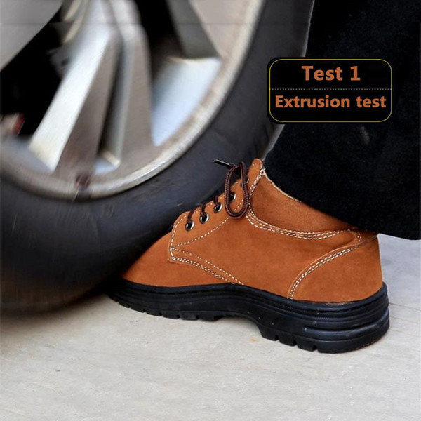 DAOKFPO 2018 New Protective Shoes Prevent Hit/Piercing Breathable Work Outdoor Safety B Antiskid and wear-resistant sneaker
