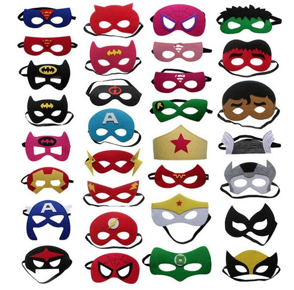 Super mask Cosplay Superman Batman Spiderman Hulk Thor IronMan Princess Halloween Christmas kids adult Party Costumes Masks