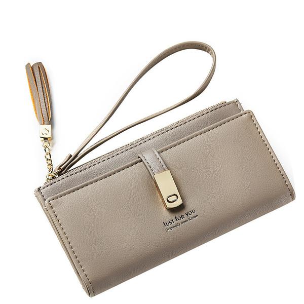 Fashion Tassel Woman Purse HASP Designer Female Wallet Long Clutch PU Leather Ladies Purse Coin Phone Pocket Female Wallets new