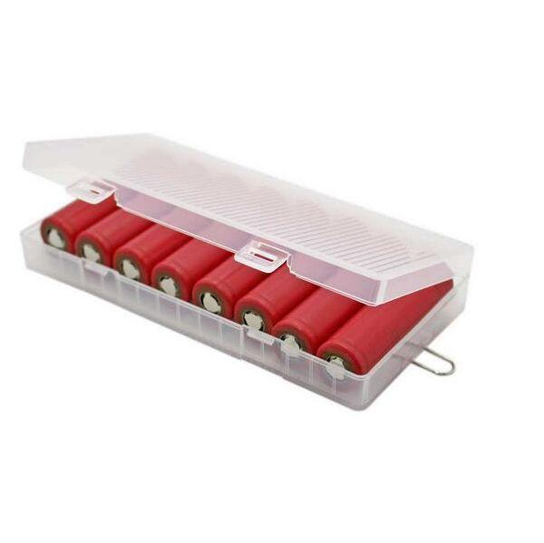 Brand new 8X18650 cas de support de batterie 18650 boîte de stockage de batterie avec crochet titulaire transparent, fort dur