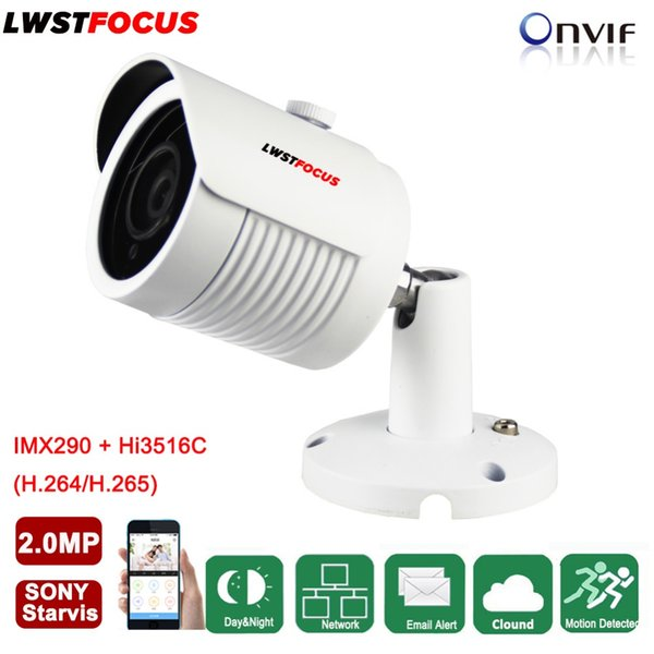 LWSTFOCUS 2MP 1080P HD IP Camera Micro SD/TF Card Sony IMX290 Onvif P2P Outdoor Network CCTV Camera Optional Audio Array Leds