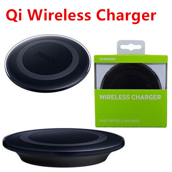 top popular Qi Wireless Charging Pad Qi Universal Charger For S8 Plus S7 S6 S6 Edge iP 8 X with Logo Without Fast Charging 2020