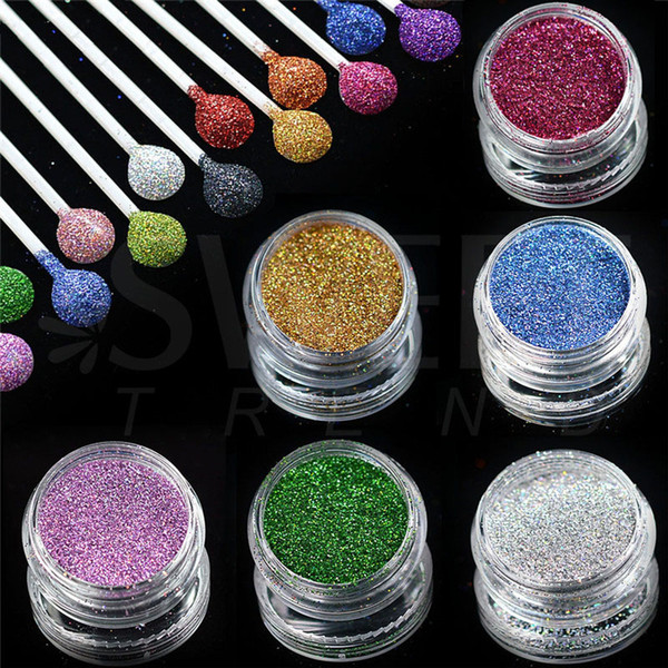 best selling Starry Holographic Laser Powder Manicure Nail Art Glitter Powder Used with UV Gel Polish Nail Manicure