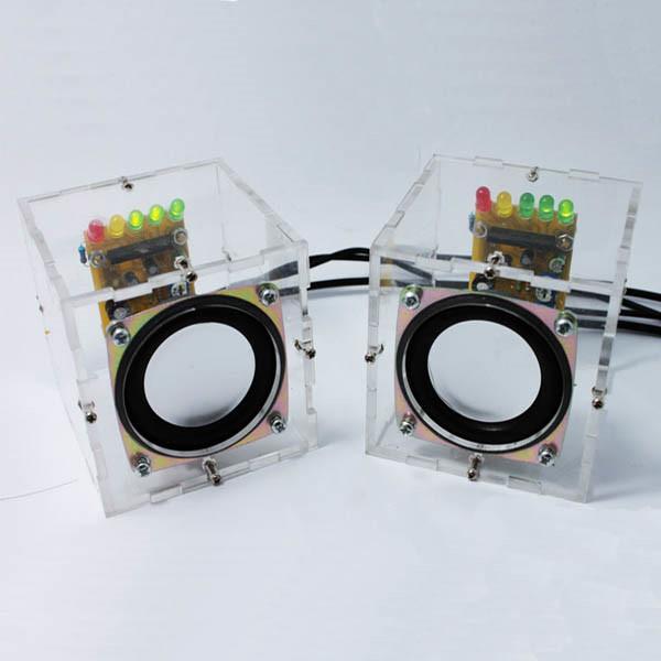 Individualidade Mini Speakers Computador Pequeno Orador Transparente DIY Produção Para O Presente