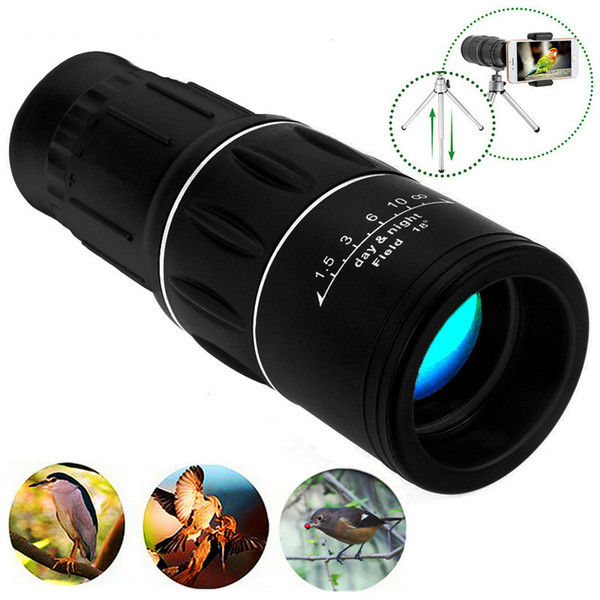 New Travel 16x52 Monocular HD Telescope Dual Focus Zoom Potente binocolo monoculare Tempi elevati Per i regali di bird-watching I migliori