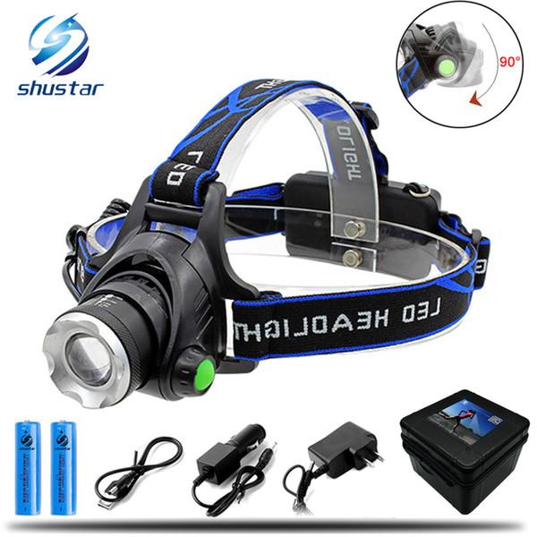 8000LM l2 t6 led phare zoomable phare étanche tête torche lampe de poche tête lampe pêche chasse lumière