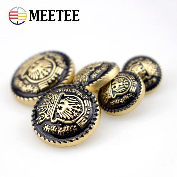 20pcs Brand Metal Buttons Gold black Coat Sweater Buttons Garment Accessories DIY Material Sewing Supplies 15mm-25mm D4-5