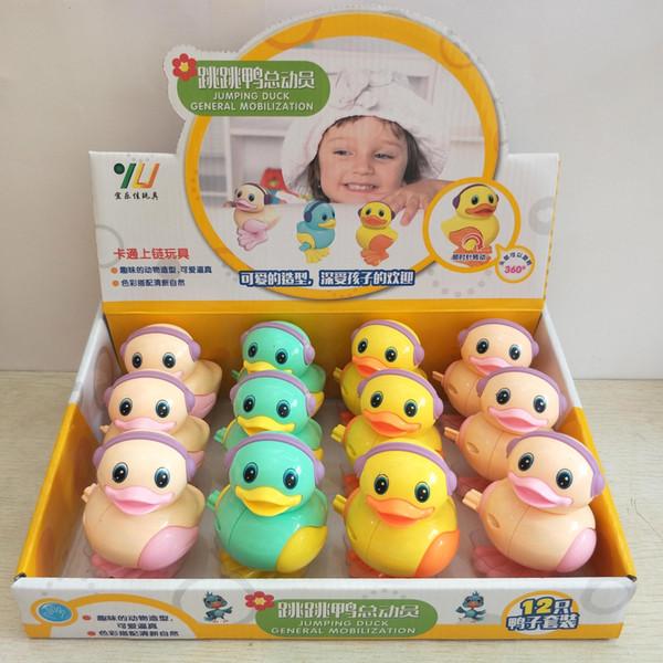 Children's Clockwork Toy Creativity Chain up Cartoon Animal Jumping Duck Story