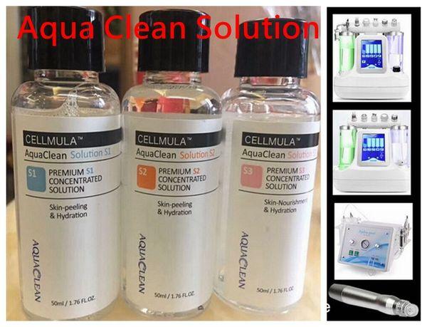 Spedizione gratuita !!! Soluzione concentrata Aqua Peel 50ml per bottiglia / Aqua Peeling Solution / Aqua Facial Serum Hydra Facial Serum per pelle normale