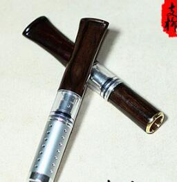 Ebony cigarette filter can be cleaned circulating type filter. Fashion men quit smoking filter cigarette holder.