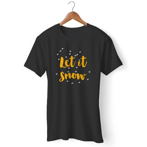 Let It Snow Christmas Gift 2 Man's / Woman's T-Shirt Funny free shipping Unisex Casual tee gift top