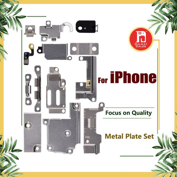 Für iPhone 5 5S SE 5C 6 6P 6S 6S Plus 7G 8 plus X Ganzkörper-Innenkleinhalterung Halterung Schild Metall Eisen Körperteile Set