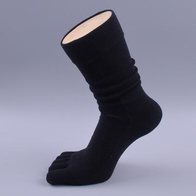 5 pairs brand men 's business dress five finger toe socks high ankle cotton long sox sokken sale