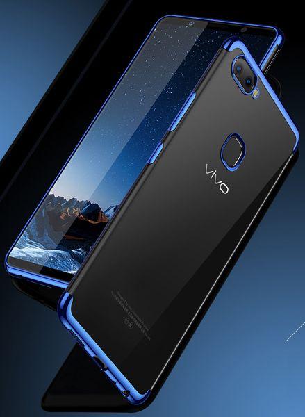 For Oppo A33/Neo7 A37/Neo9 A3S A5 A57/A39 A59/F1S A71 A83 Thin Luxury Soft TPU Clear Plating Phone Cover Case