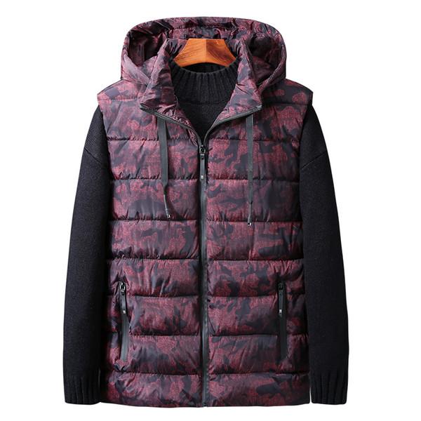 Осень жилет мужчины плюс размер мода стенд воротник мужские без рукавов куртки повседневная большой размер хлопок пальто человек зима жилеты