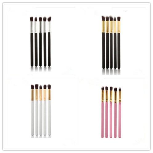 5 pcs Pro Makeup Eye Shadow Brushes Set Colors Make up Brushes Set Tools Cosmetics Soft Eyeshadow Brush Blending Pencil Brush Kits in stock