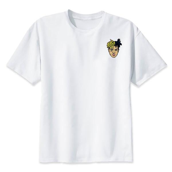 Yeni Varış Moda T-Shirt Xxxtentacion Adam T-Shirt Yaz Moda Rahat Beyaz Erkek Veya Kadın Için Komik Tees Tees
