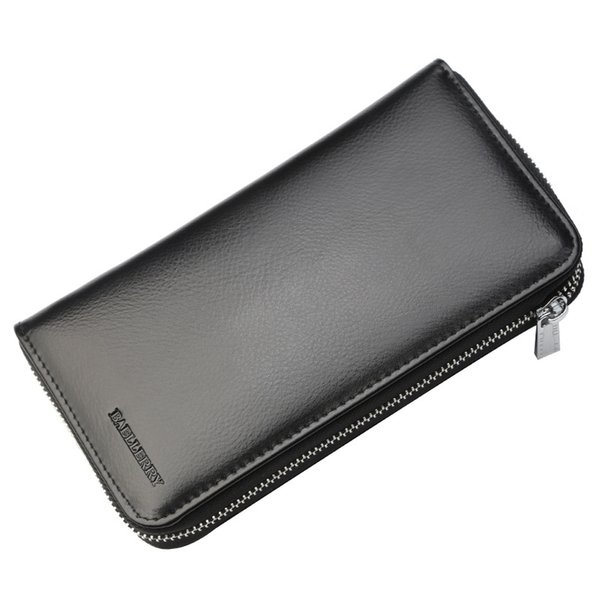 Fashion PU Leather Multifunctional Long Wallet Zipper Money Clip Women's Simple Design Business Clutch Cellphone Holder Purse