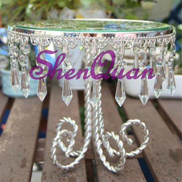 6pcs / log, perle de verre bon prix rond plateau à dessert pour la décoration de la maison, plateaux décoratifs pour mariage indien